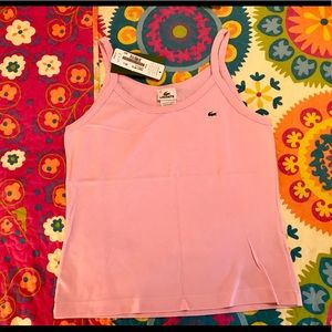 NEW WITH TAGS! Lacoste Pink Cotton Tank